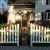 Covington Picket PVC White Fence