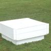 "Vinyl 32"" sq. white sand box with cover"